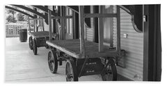 Baggage Carts Bw Beach Sheet