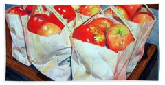 Bags Of Apples Beach Towel