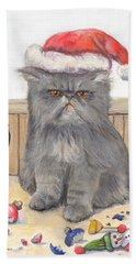 Bah Humbug Beach Towel by Donna Tucker