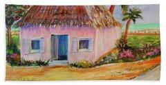 Bahamian Shack Painting Beach Towel