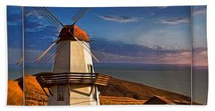 Baker City Windmill_1a Beach Towel