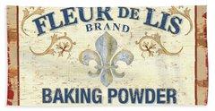 Baking Powder Fleur De Lis Beach Towel