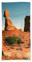 Balanced Rock At Arches National Park Beach Towel
