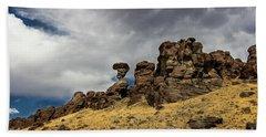 Balanced Rock Idaho Journey Landscape Photography By Kaylyn Franks Beach Towel
