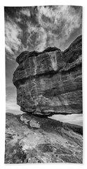 Balanced Rock Monochrome Beach Sheet