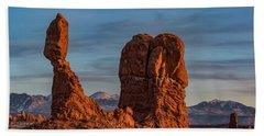 Balanced Rock Sunset Beach Towel