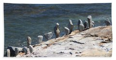Beach Sheet featuring the photograph Balanced Rocks by Living Color Photography Lorraine Lynch