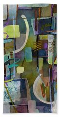 Beach Towel featuring the painting Balancing Act by Hailey E Herrera