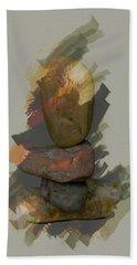 Balancing Stones Beach Towel by John Stuart Webbstock