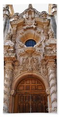 Balboa Park Building Exterior Design Beach Towel