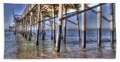 Balboa Pier Pylons Beach Sheet