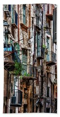 Balconies Of Palermo Beach Sheet by Patrick Boening