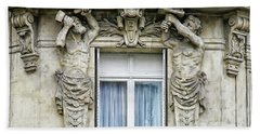 Balcony And Window Beach Towel by Anthony Dezenzio
