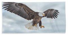 Bald Eagle Blue Sky Beach Sheet