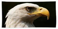 Beach Towel featuring the photograph Bald Eagle Delight by Sue Harper