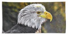 Bald Eagle Digital Beach Towel