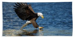 Bald Eagle Fishing Beach Towel