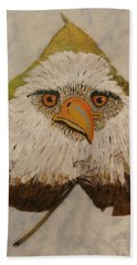 Bald Eagle Front View Beach Towel