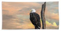 Bald Eagle Inspiration Beach Towel
