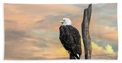 Bald Eagle Inspiration Beach Towel