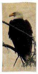 Beach Towel featuring the photograph Bald Eagle by Lori Seaman