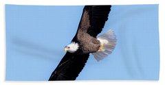 Bald Eagle Overhead  Beach Sheet