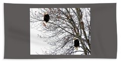 Beach Towel featuring the photograph Bald Eagle Pair by Will Borden