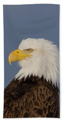Bald Eagle Portrait Beach Towel