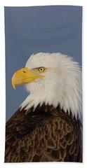 Bald Eagle Portrait Beach Sheet
