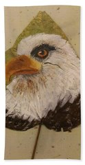 Bald Eagle Side Veiw Beach Towel
