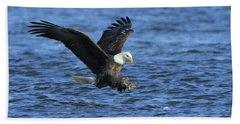 Bald Eagle Talons Up Beach Towel