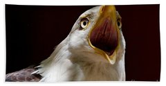 Beach Towel featuring the photograph Bald Eagle - The Great Call by Sue Harper