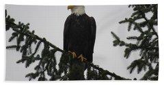 Bald Eagle Watching Beach Towel