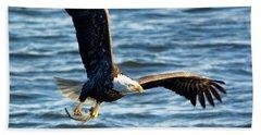 Bald Eagle With Fish Beach Sheet