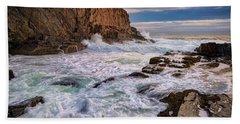 Beach Towel featuring the photograph Bald Head Cliff by Rick Berk