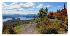 Bald Mountain Autumn Panorama Beach Sheet