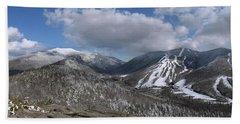 Bald Mountain Winter Panorama Beach Towel