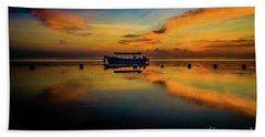Bali Sunrise 3 Beach Towel by M G Whittingham