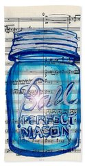 Beach Towel featuring the painting Ball Mason Jar Classical #168 by Ecinja