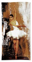 Ballerina Dance 093 Beach Towel by Gull G