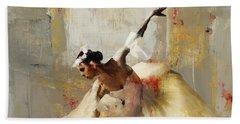 Ballerina Dance On The Floor 01 Beach Towel by Gull G