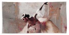 Ballerina Dance On The Floor 02 Beach Towel by Gull G