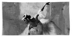 Ballerina Dance On The Floor  Beach Towel by Gull G
