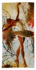 Ballerina Dance Original Painting 01 Beach Towel by Gull G