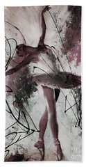 Ballerina Dance Painting 0032 Beach Sheet by Gull G