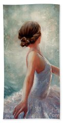 Ballerina Dazzle Beach Towel by Michael Rock