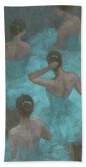 Ballerinas In Blue Beach Towel