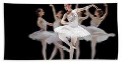 Beach Sheet featuring the photograph Ballet Dancer Dance Photography Long Exposure by Dimitar Hristov
