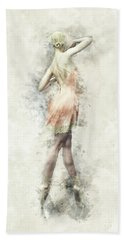 Beach Towel featuring the digital art Ballet Dancer by Shanina Conway
