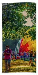 Beach Towel featuring the photograph Balloon Fest Spirit by Kendall McKernon